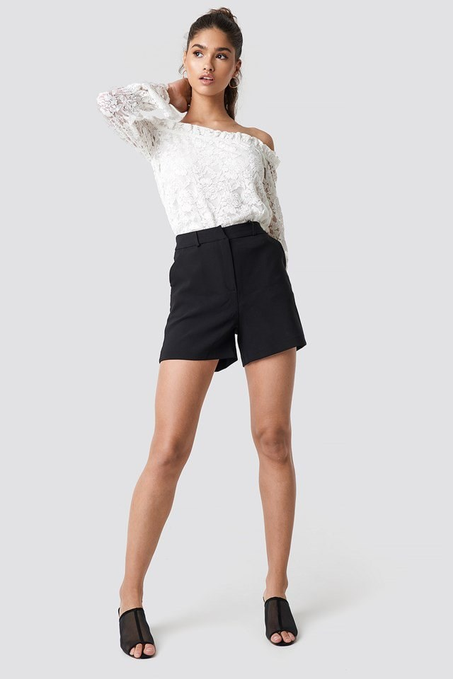 Lace Blouse with High Waist Blouse