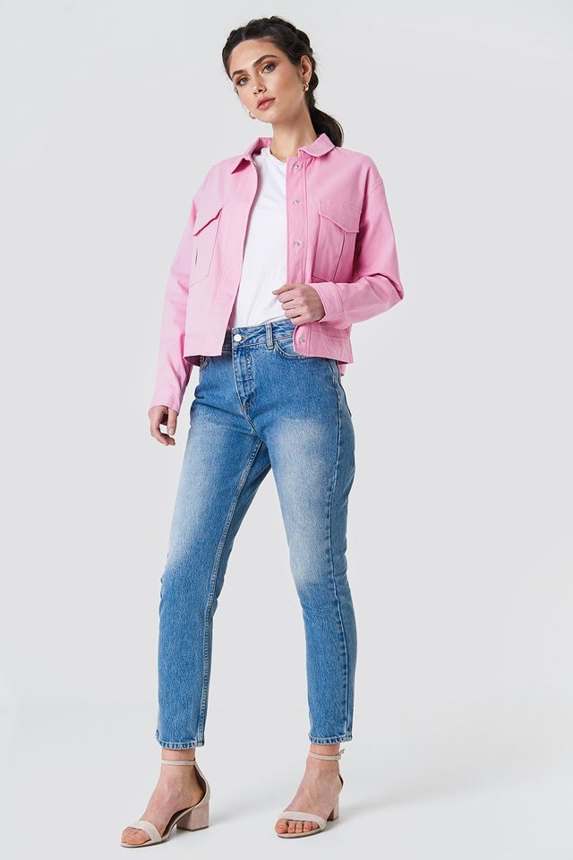 Colorful Short Jacket Outfit