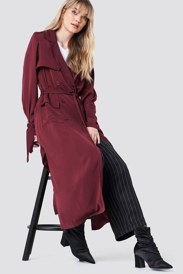 Burgundy Trench Coat