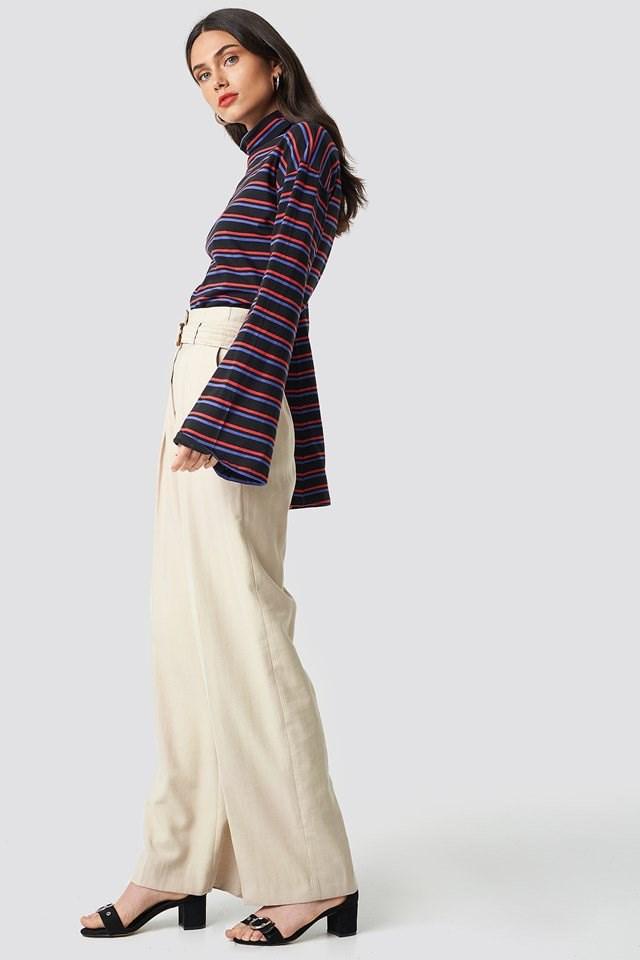 Wide Sleeve Polo Top