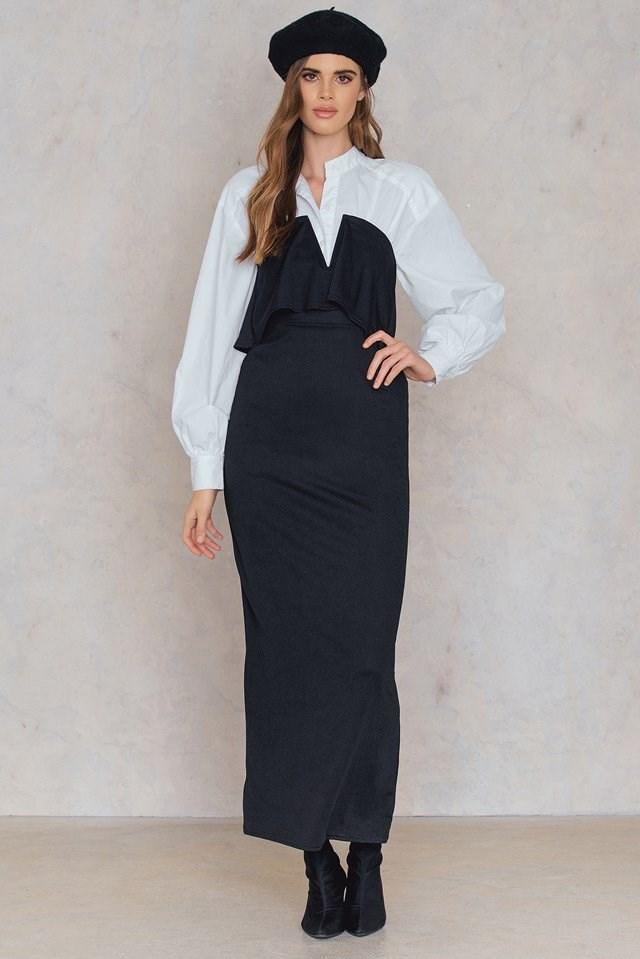 Bandeau Maxi Dress Outfit
