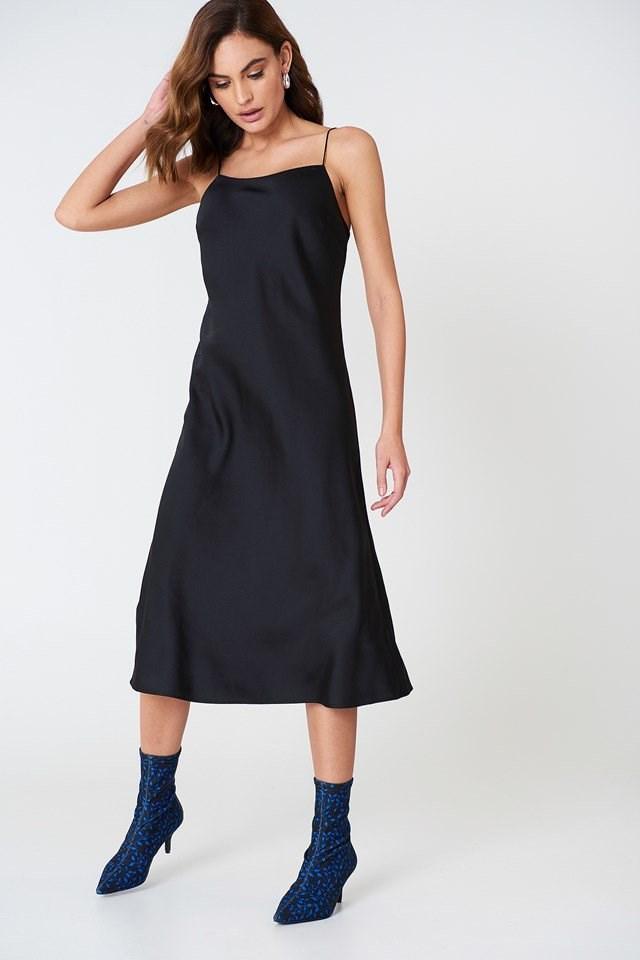 Black Midi Dress Outfit