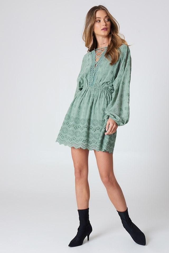 Romantic Lace Mini Dress