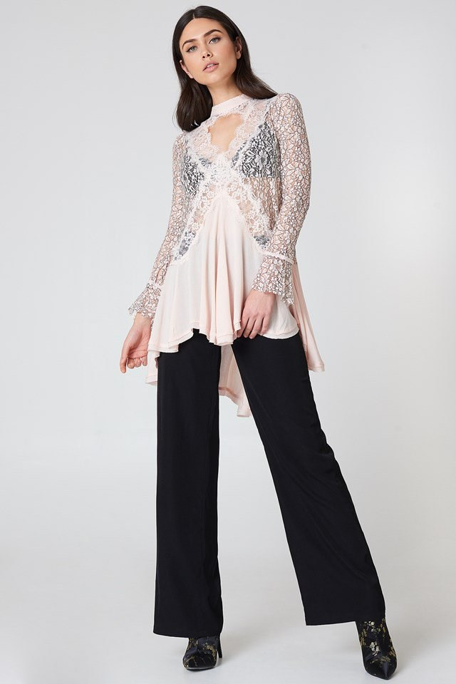 Lace Tunic with Wide Pants