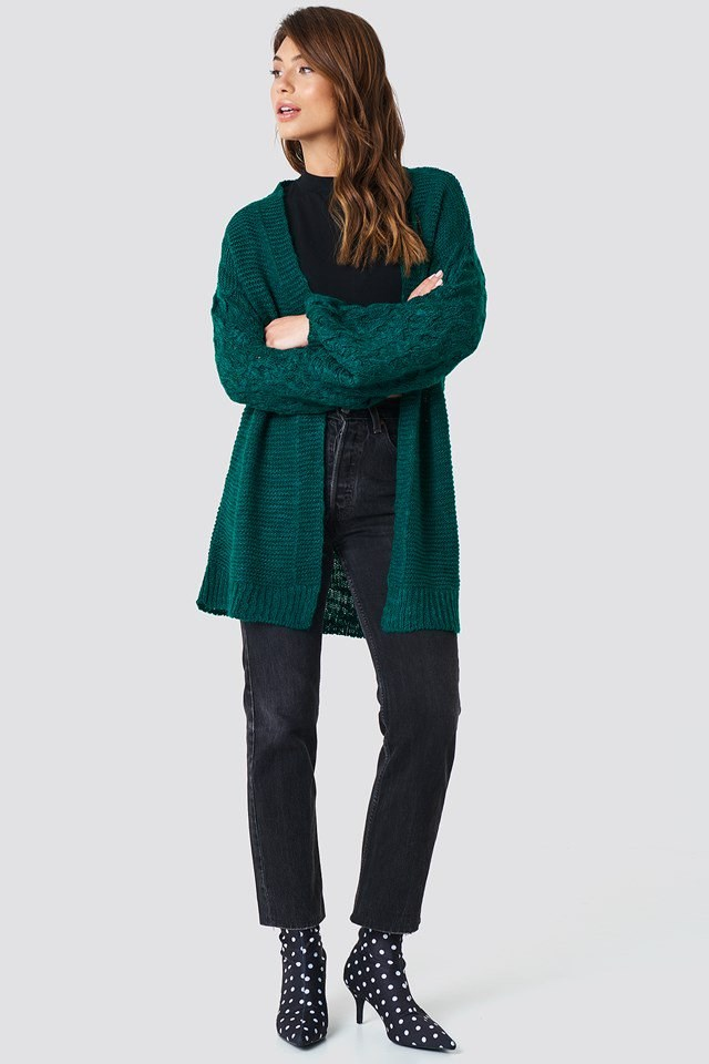 Links Knitted Cardigan Outfit