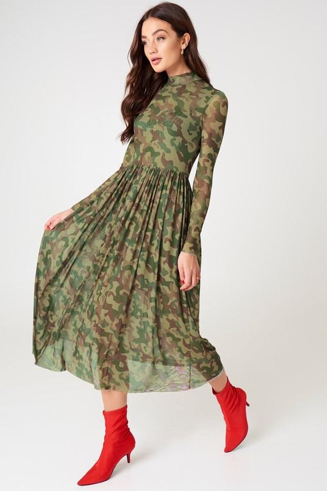 Camouflage Midi Dress