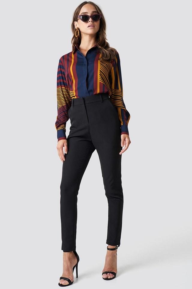 Slim Pants with Print Shirt