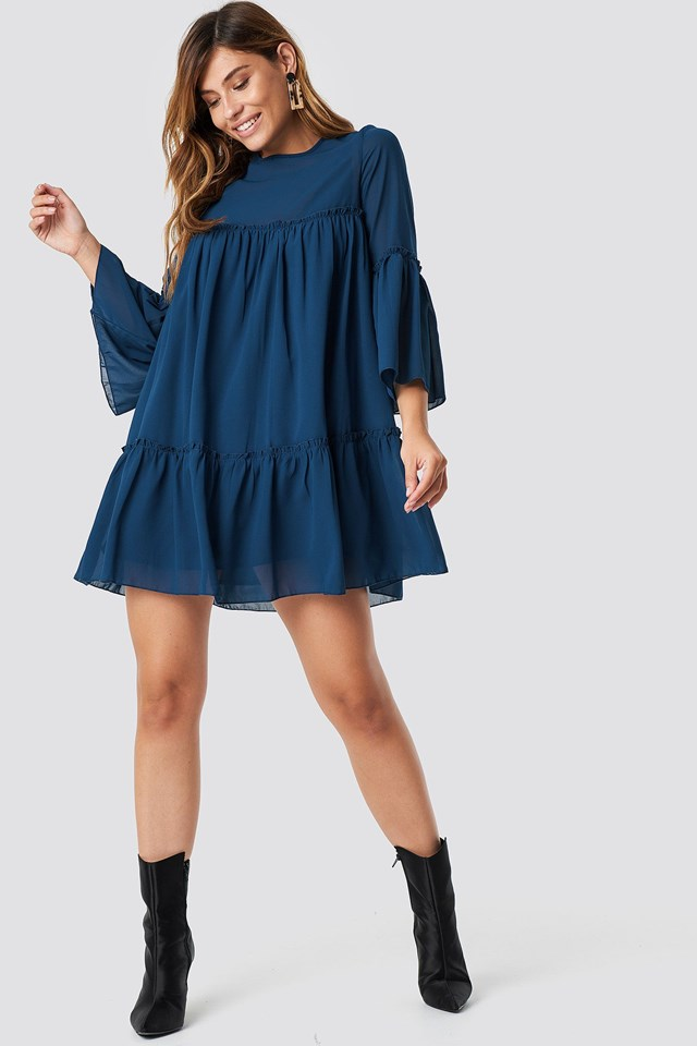 The Cute Mini Chiffon Dress Look