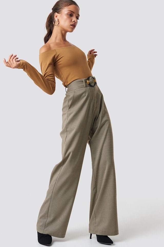 Neutral Tone Top and Trouser Outfit