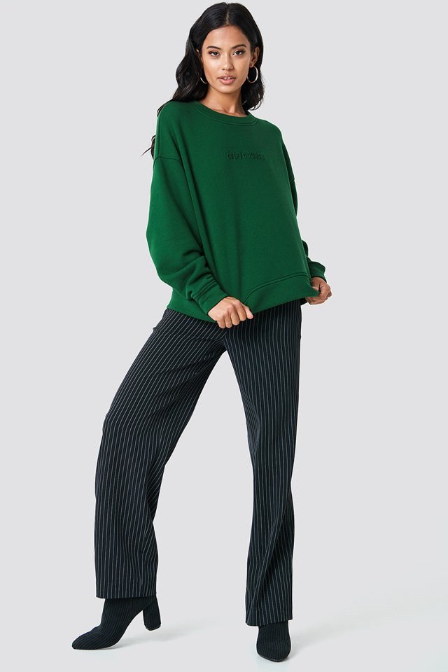 Crew Neck Pant Suit Outfit