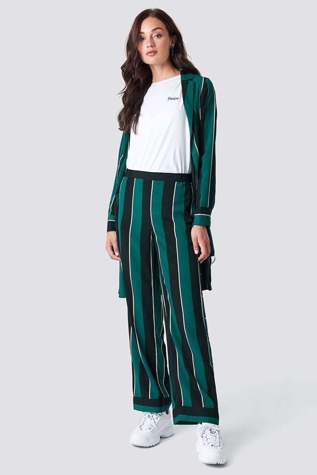 Striped Pant and Striped Dress Jacket