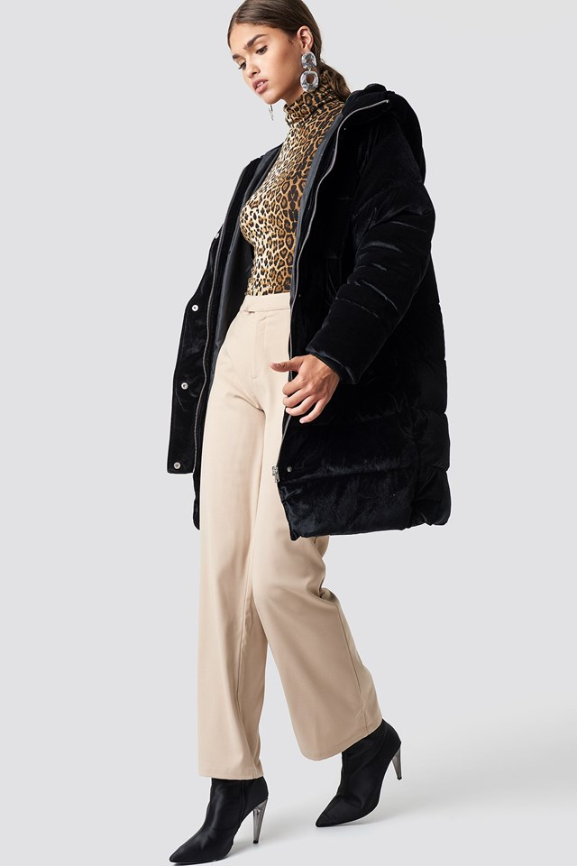 Puffy Jacket and Animal Print Outfit