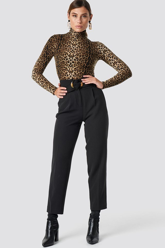 High Waist Suit Pants Outfit