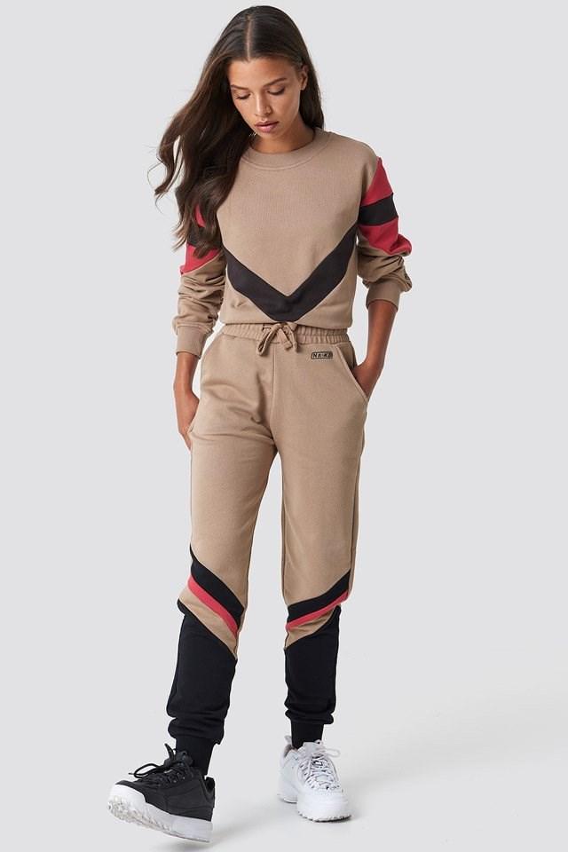 Stripe Blocked Sweatpants