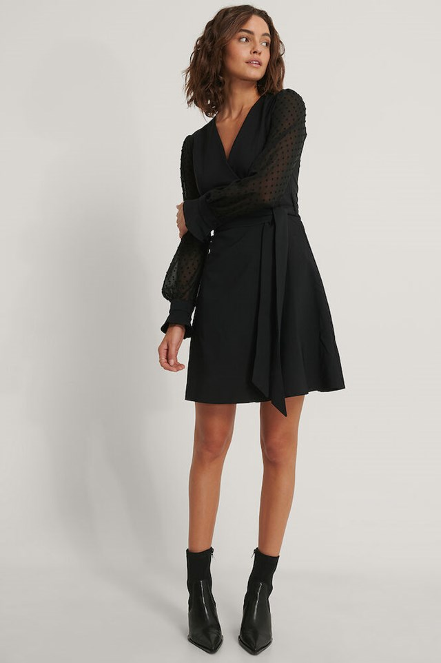 Belted Sleeve Detailed Dress Outfit.