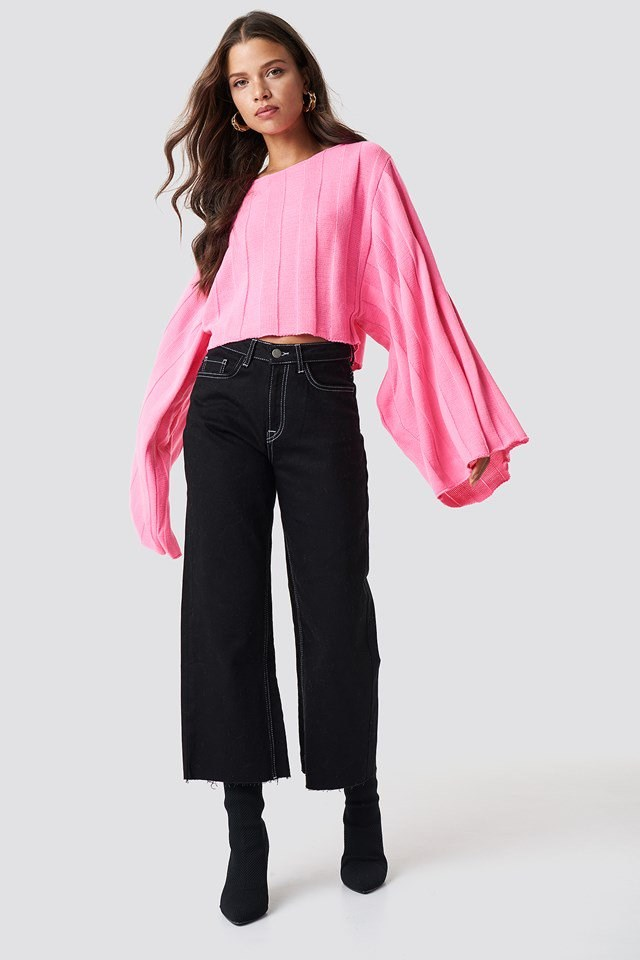 Black and Pink Denim Outfit