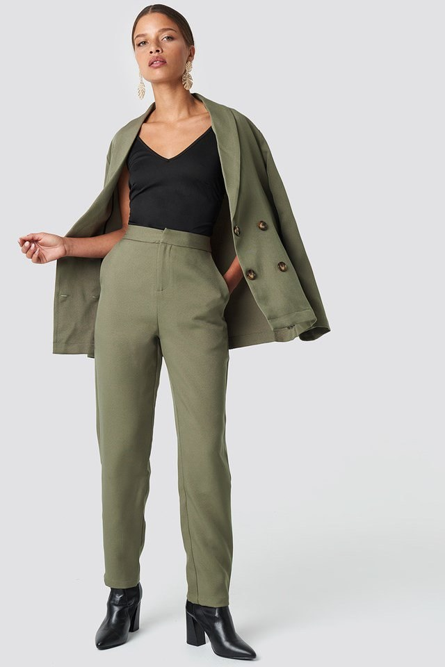 Green Pant Suit Outfit