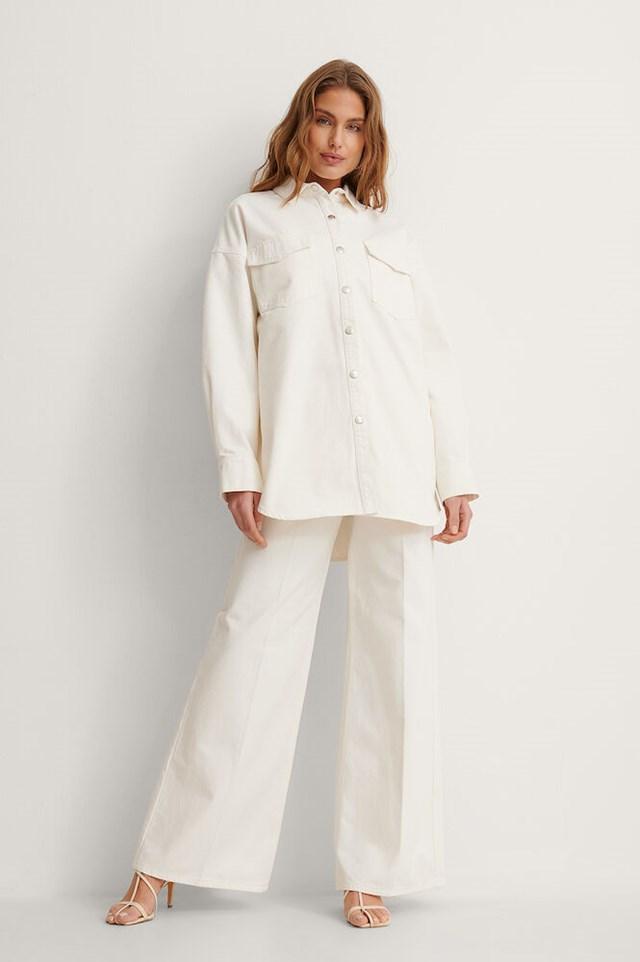 Oversized Denim Overshirt Outfit.