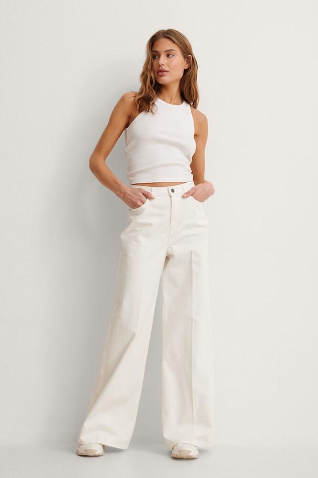 Wide Leg Denim Outfit.