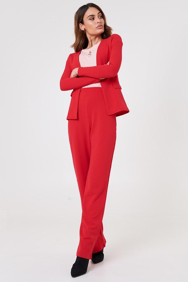 Red Tailored Blazer