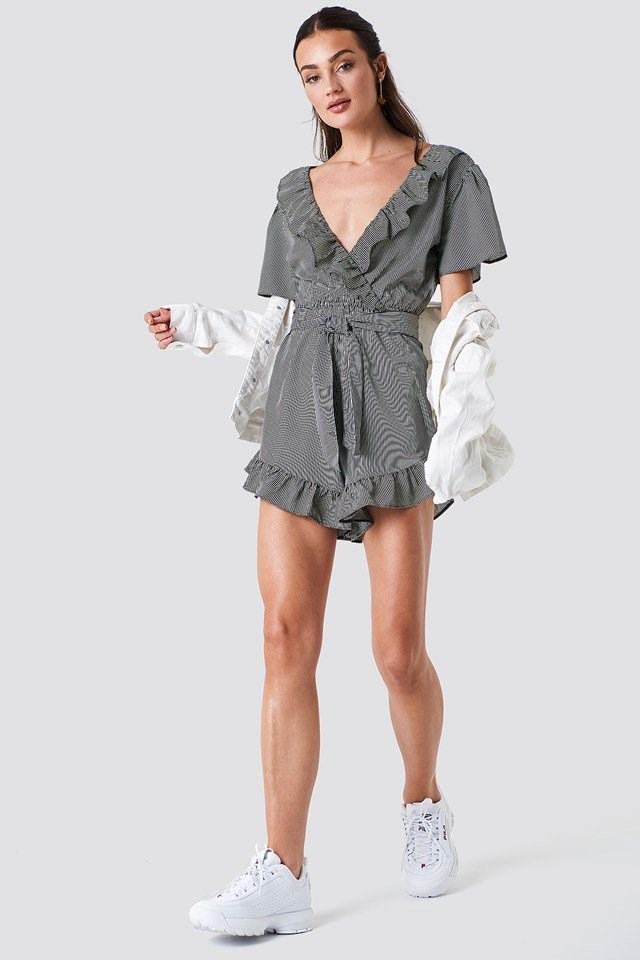 Frill Detail Playsuit