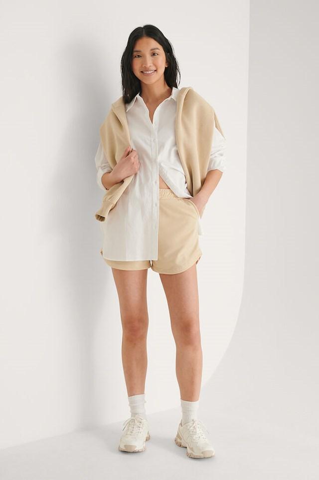 Beige Soft Shorts