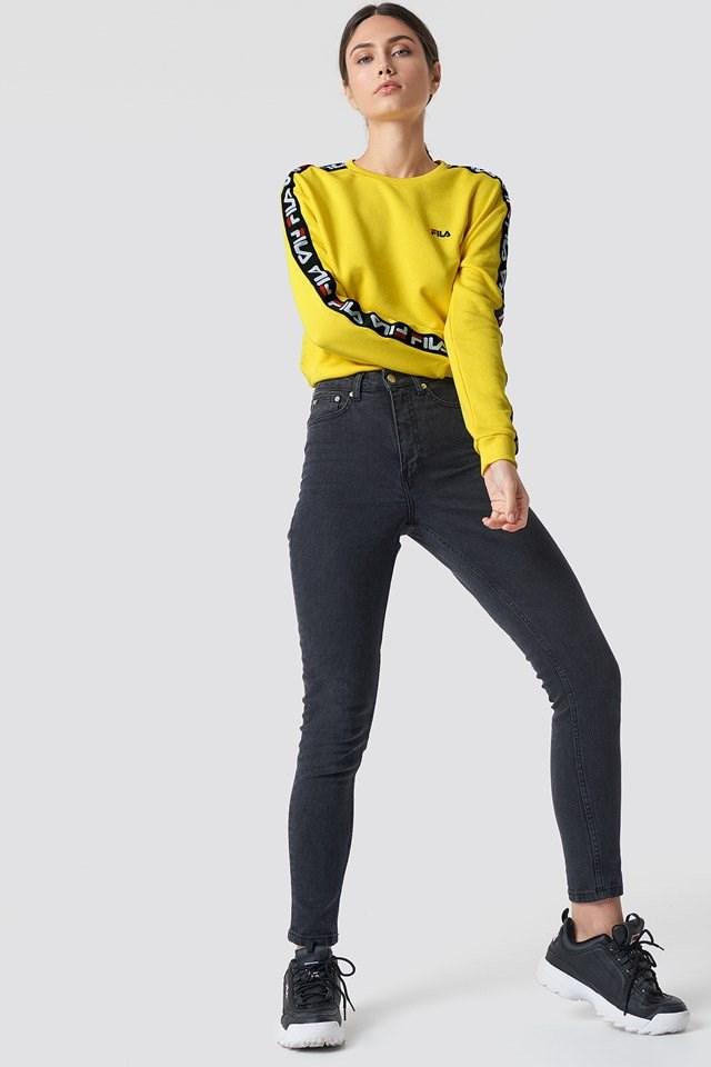 Yellow FILA Denim Outfit