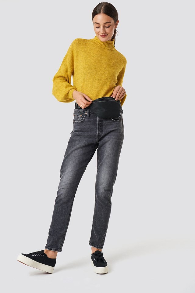 Yellow Knit Fanny Pack Outfit