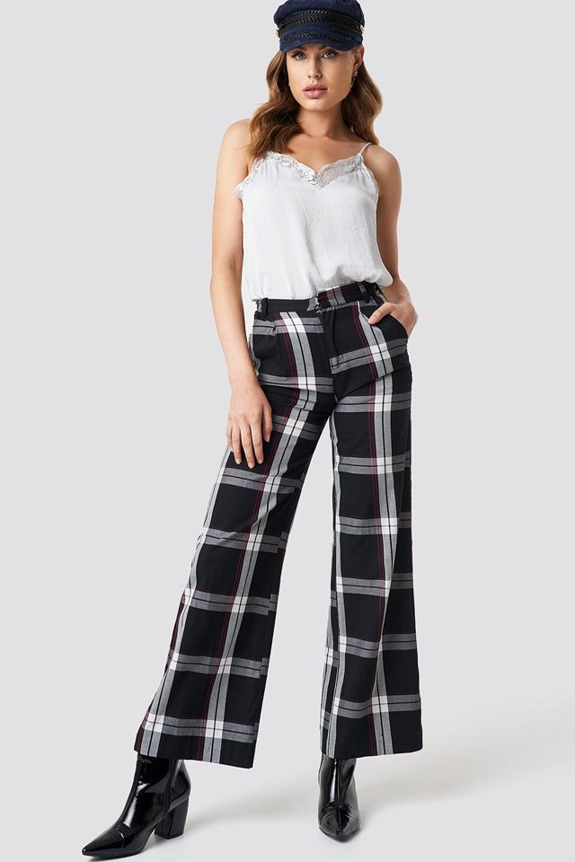 Singlet and Checkered Pants Outfit