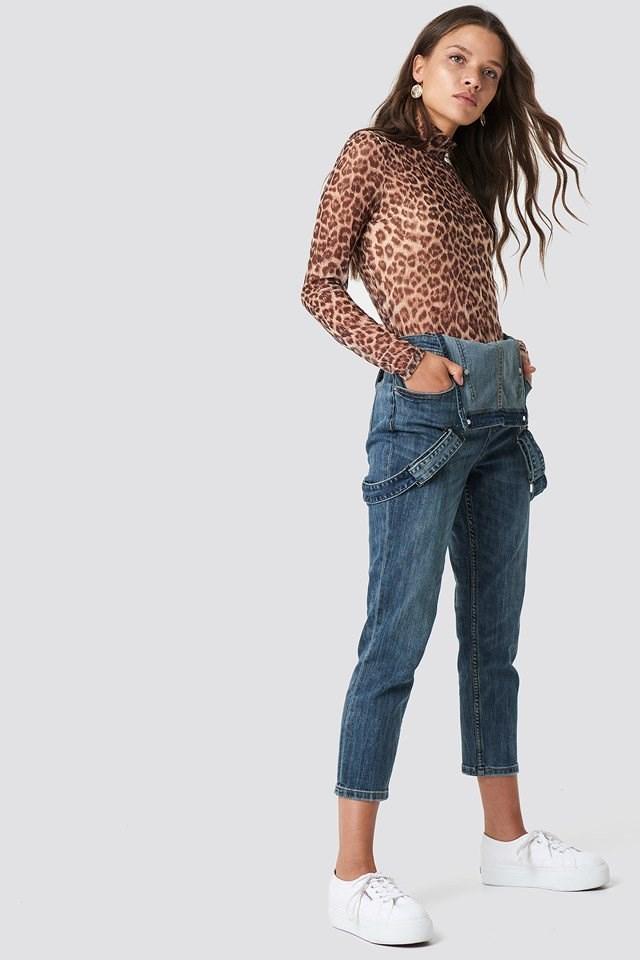 Panther Print Denim Outfit.