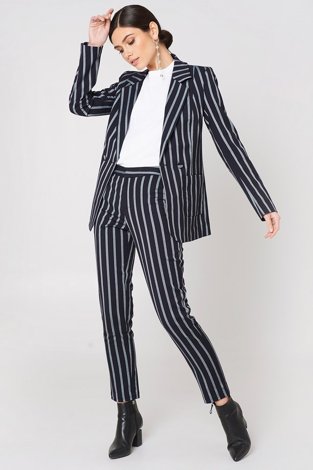 Striped Suit Outfit