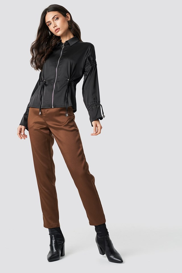 Zip Detail Jacket Outfit