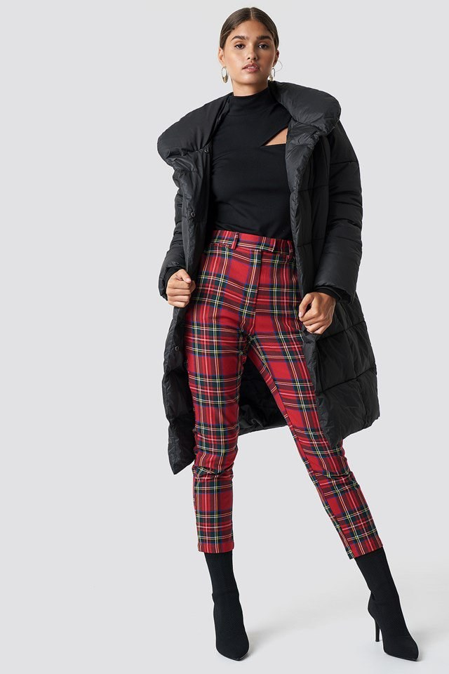 Puffy Jacket and Statement Trousers