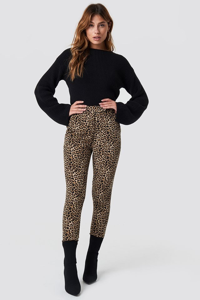 Cosy Knit and Animal Print Outfit