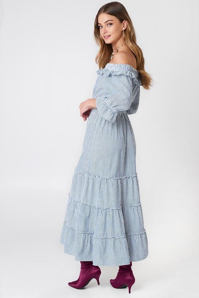 Off Shoulder Ankle Dress