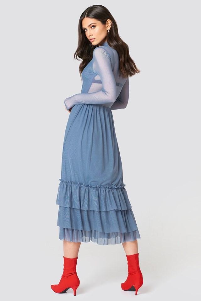 Mesh Frill Dress