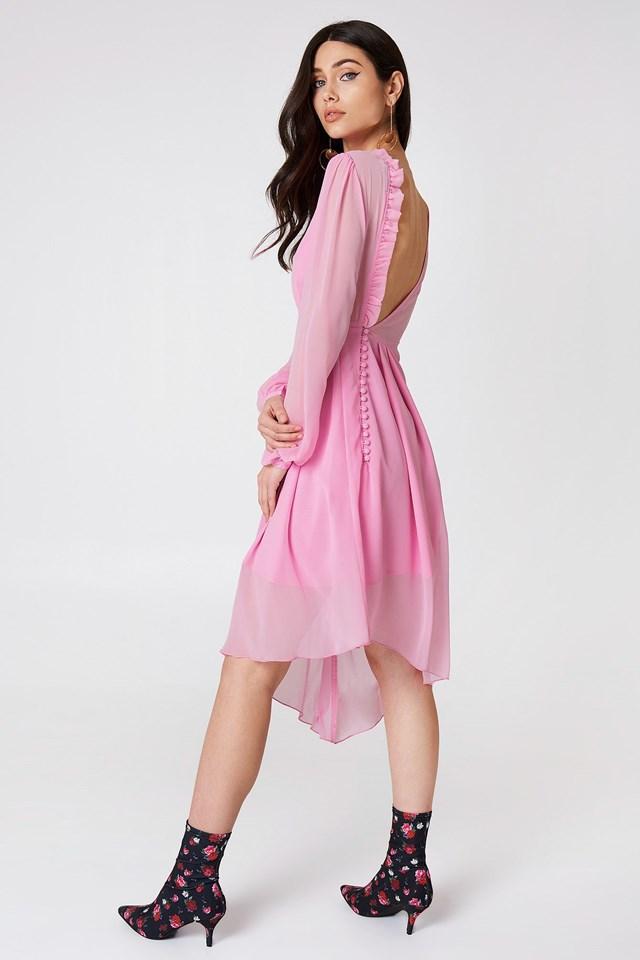 Asymmetric Midi Dress Outfit