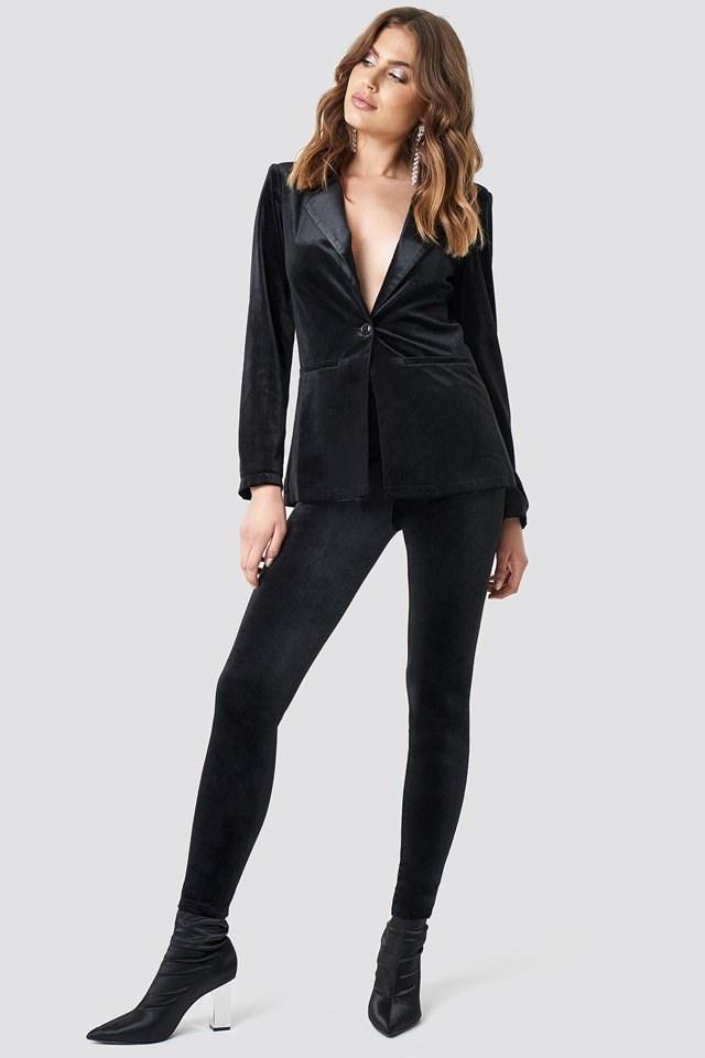 Black Velvet Suit Outfit.