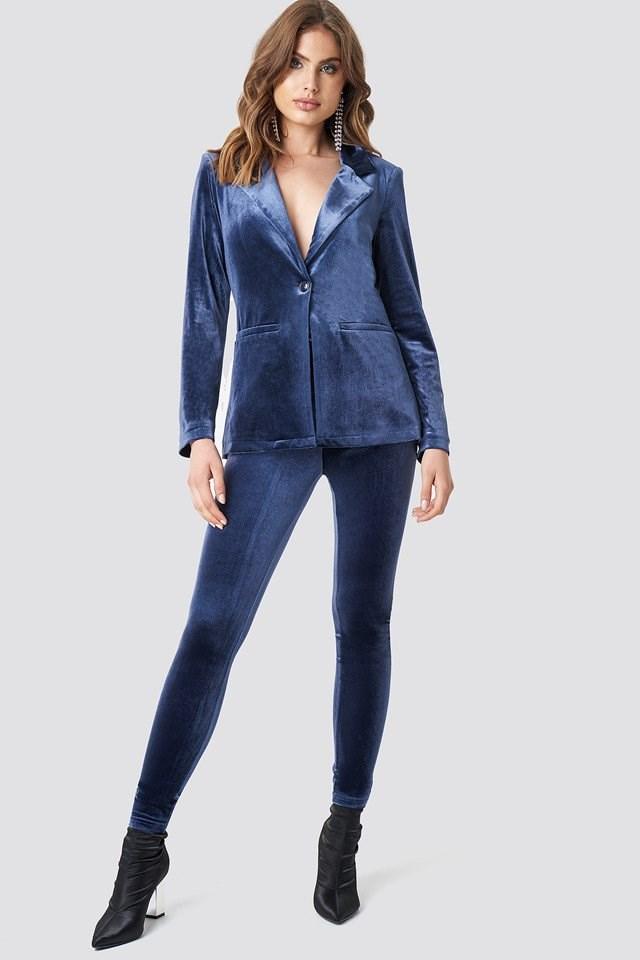 Velvet suit Outfit.