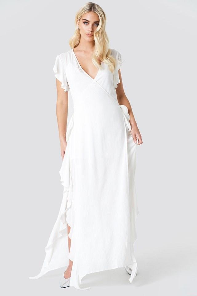 Sheer Wrap Maxi Dress