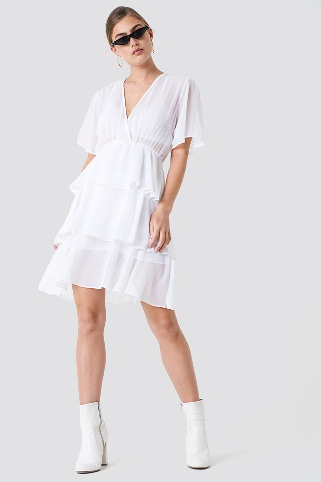 Triple Layer Flounce Dress