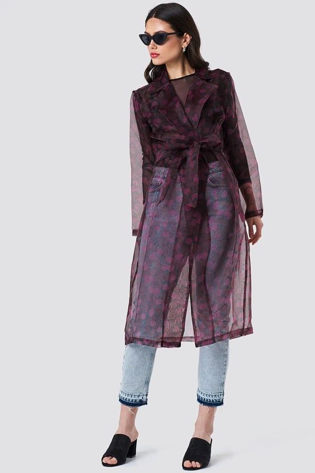 Printed Organza Coat