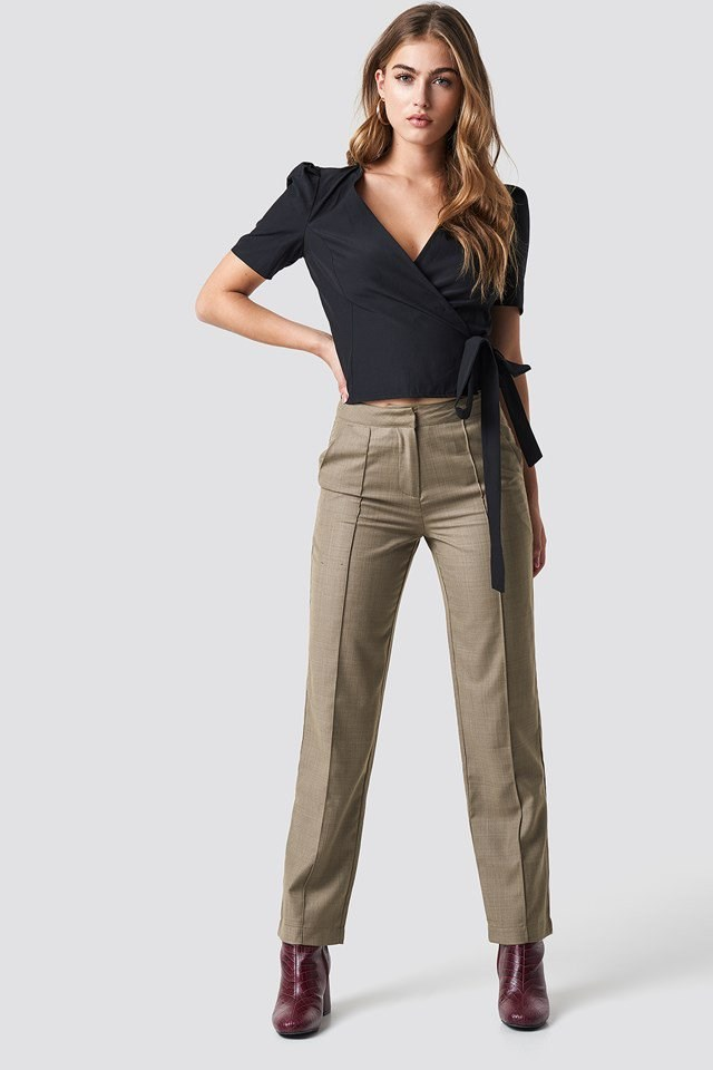 Wrap Top X Pant Outfit