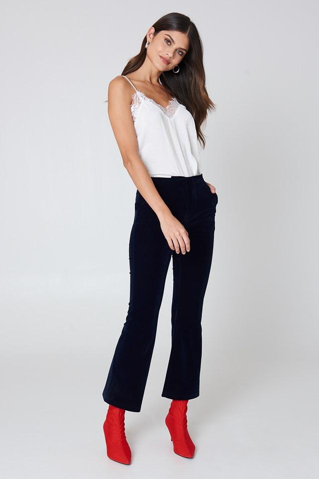 Velvet Trousers Chic Look