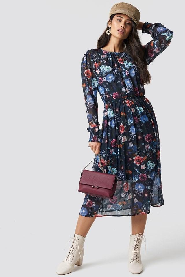 Long Flower Dress
