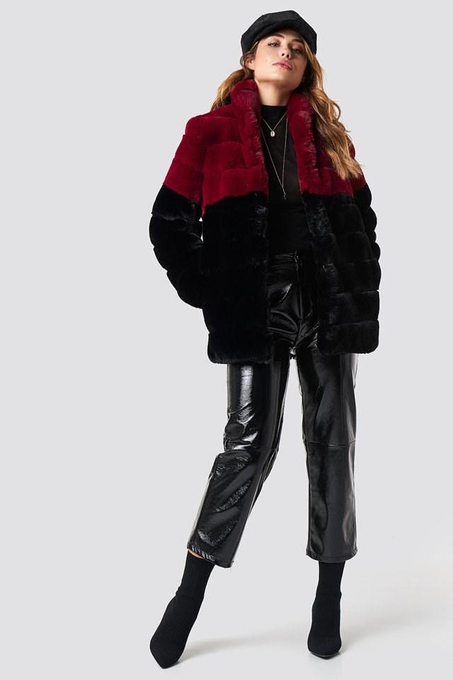 Long Puff Faux Fur Jacket