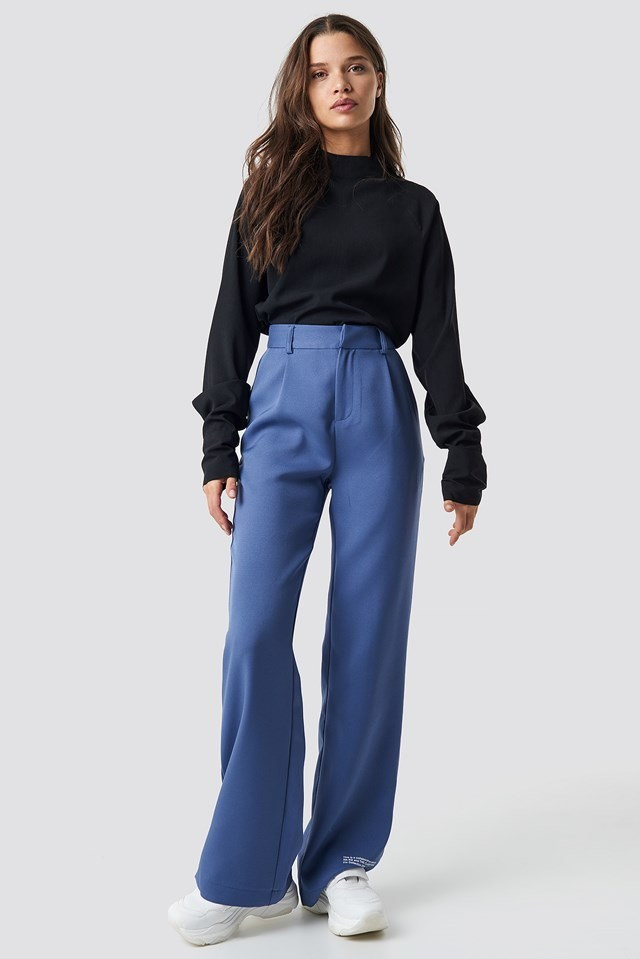 Long Sleeve and Wide Pants Outfit