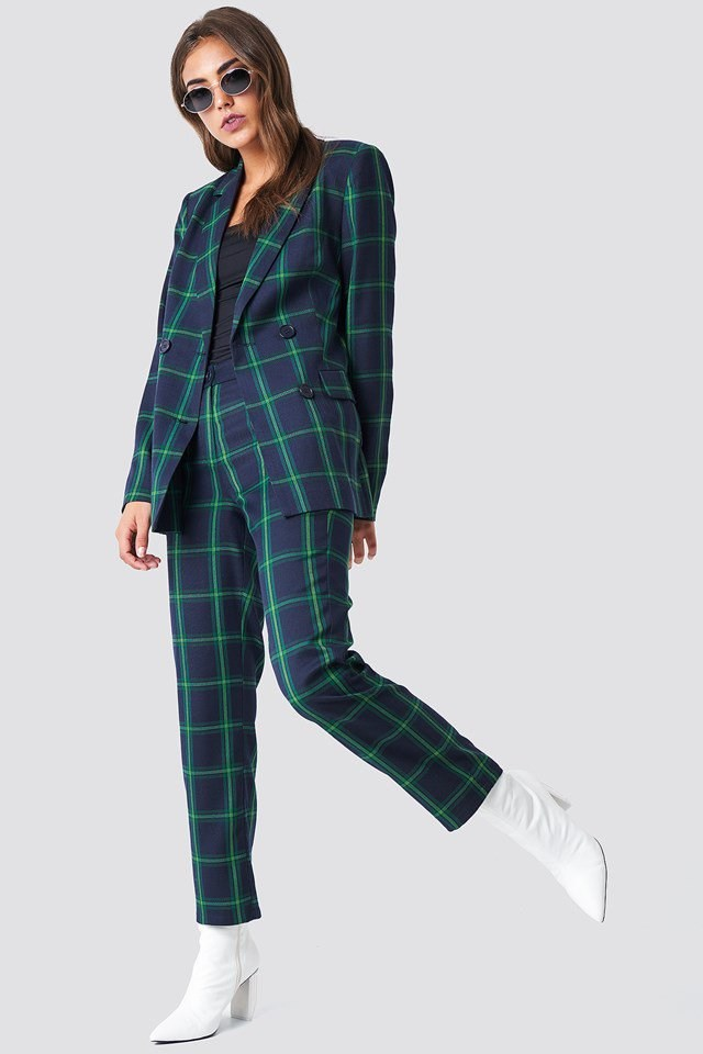 Tailored Checkered Suit