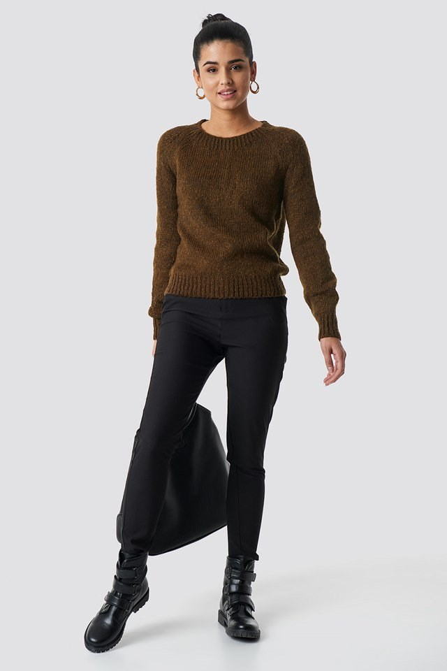 Brown Knitted Sweater.