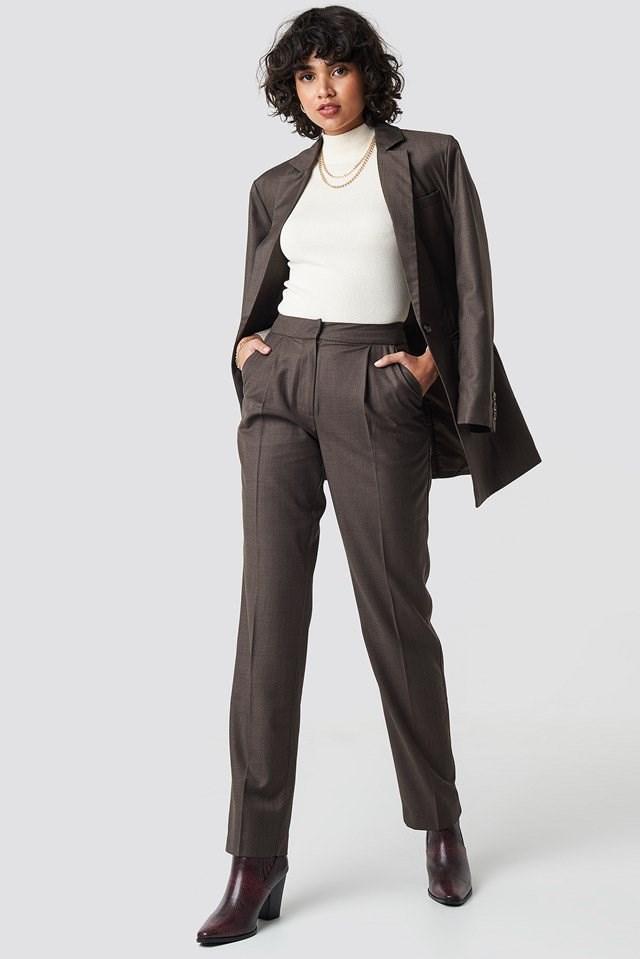 Brown Suit Pants.